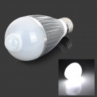 Fengyangdengshi 014 E27 7W 240lm 6500K White Light 5-LED IR Induction Light Bulb - AC 85~265V