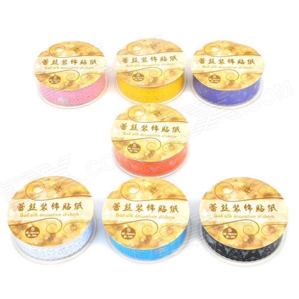 Beautiful Lace Style Decorative PVC Adhesive Tape Sticker - Multicolored (7 PCS)