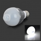Fengyangdengshi 014 E27 5W 180lm 6500K White Light 5-LED IR Induction Light Bulb - AC 85~265V