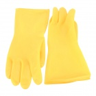 2300L Convenient Natural Rubber Waterproof Glove - Light Yellow (1 Pair)