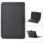 "Universal Micro USB Silicone Keyboard PU Leather Case w/ Stand for 8"" / 9"" Tablet PC - Black"