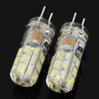 JRLED JR-LED-G4-2W- 110lm 6500K 24 SMD 3014 LED White Light Source - Transparent + White (110~220V)