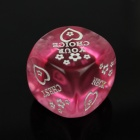 Spoof Fun Dice - pourpre + rose (2 PCS)