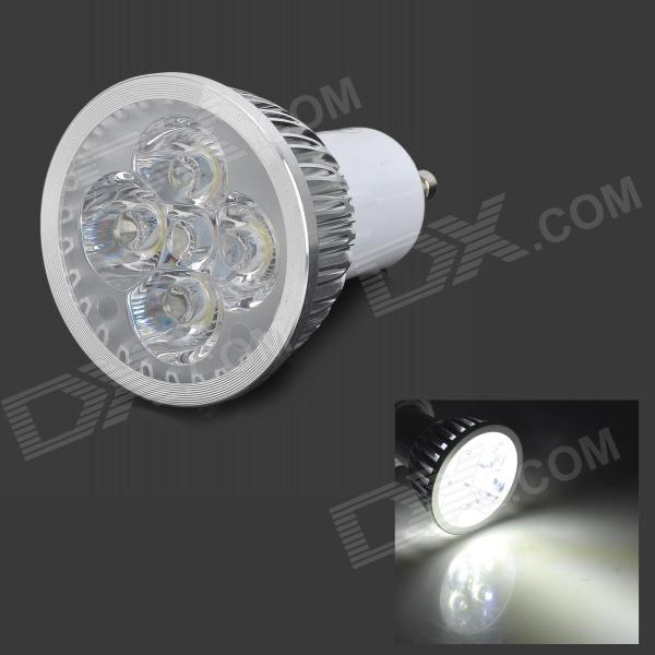 JRLED JR-LED-GU10-4W GU10 360lm 6500K 4-LED White Light Spotlight - Silver + White (85~265V) jrled gu10 5w 330lm 6500k white light led spotlight lamp silver white ac 85 265v 5pcs
