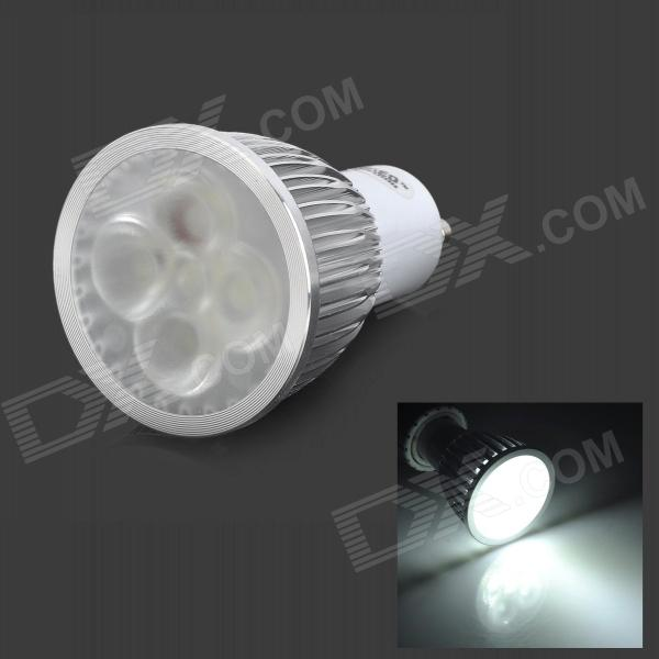 JRLED JR-LED-GU10-5W-400lm 6500K 5 LED White Light Spotlight - Silver + White (AC 220V) jrled gu10 5w 330lm 6500k white light led spotlight lamp silver white ac 85 265v 5pcs