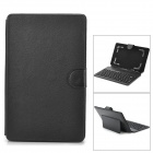 "Bluetooth V3.0 Keyboard PU Leather Case w/ Stand for 8""~9"" Tablet PC - Black"
