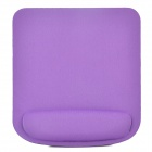 005 Square Shape Memory Foam Wrist Support Mouse Pad - Black + Purple Red