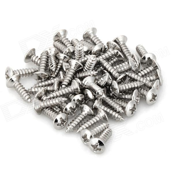Fender Pickguard Screws for Electric Guitar - Silver (50 PCS)