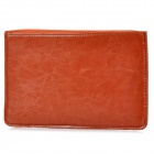 "Protective Zippered PU Leather Bag Sleeve for 7"" Tablet PC - Rufous"