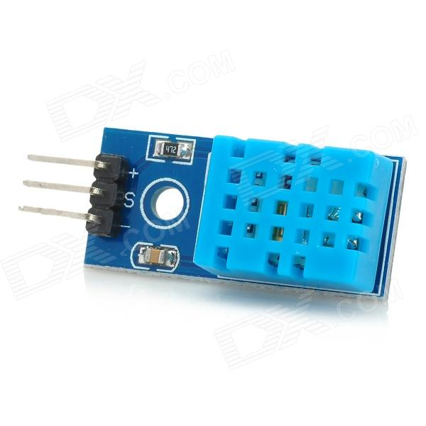 Temperature Humidity Sensor DHT11 Module for Arduino - Deep Blue (Works with Official Arduino Board) digital indoor air quality carbon dioxide meter temperature rh humidity twa stel display 99 points made in taiwan co2 monitor