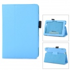 Protective Lichee Pattern PU Leather Case w/ Stylus Holder for Kindle Fire HDX 7 - Sky Blue
