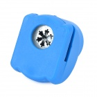 Snow Flake Shaped Paper Hole Puncher for Notebook - Blue + White