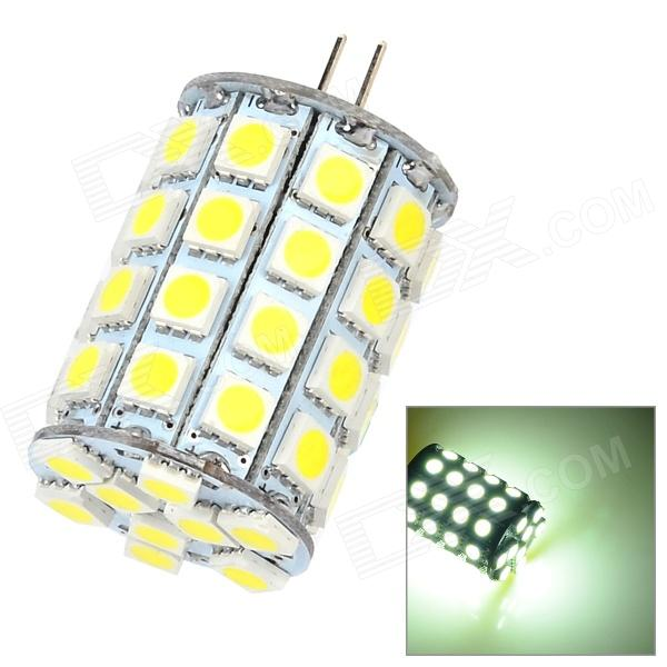 ChuanZeZhaoMing G4 5W 650lm 6500K 49 x SMD 5050 LED White Light Lamp - White + Yellow (DC 12~24V)