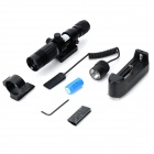 8879A 5mW 532nm Green Laser Zooming Adjustable Gun Aiming Scope Sight - Black (1 x CR123A)