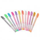 0.8mm Thickness Color Pen - Multicolored (12 PCS)