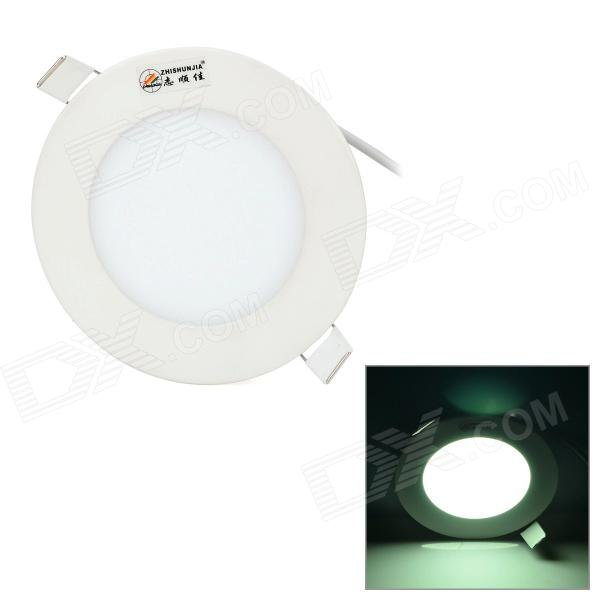ZHISHUNJIA 6W 300LM 6000K 30-2835 SMD LED White Light Round Panel Lamp - White (AC 85~265V) zhishunjia zsj06 5 e27 5w 400lm 3000k 18 smd 2835 led warm white light lamp white ac 85 265v