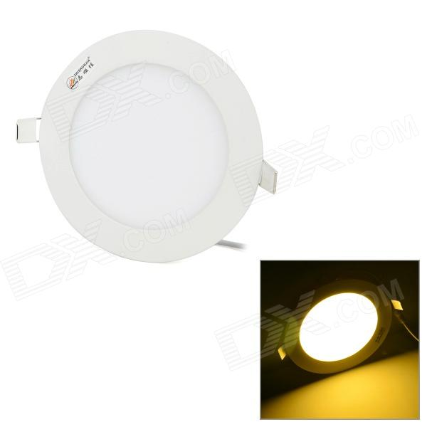 ZHISHUNJIA 9W 600LM 3000K 30-2835 SMD LED Warm White Round Panel Lamp - White (AC 85~265V) zhishunjia zsj06 5 e27 5w 400lm 3000k 18 smd 2835 led warm white light lamp white ac 85 265v