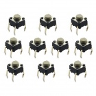Jtron Tact Switch - Black + Grey (10 PCS / 6 x 6 x 5mm)