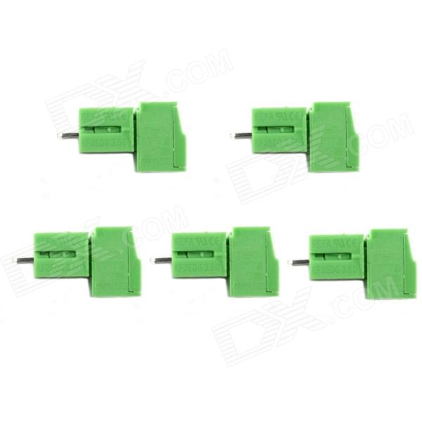 Jtron Terminal Block 3P Straight Pin / 3.5mm Pitch Connector - Green (5 PCS) rt18 125am ac 690v 125a 3 poles 3p 22x58mm cylindrical fuse holder base