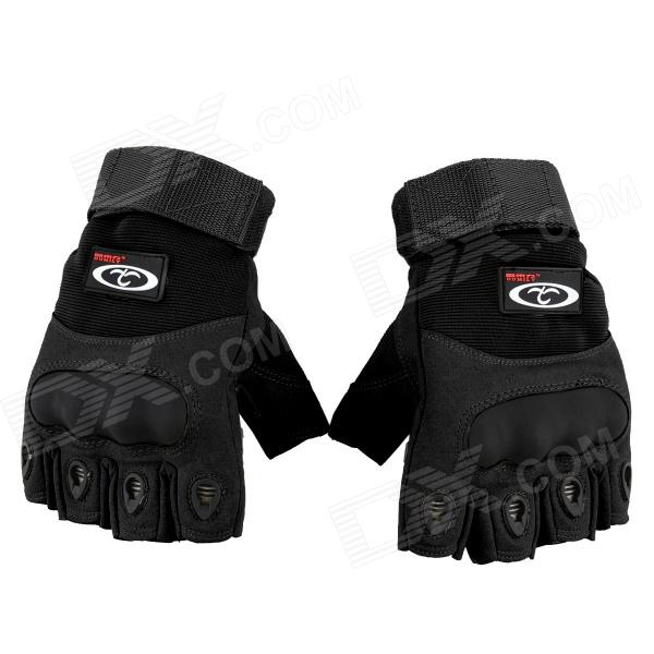 OUMILY Outdoor Tactical Half-Finger Gloves - Black (Size XL / Pair)