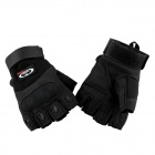 OUMILY Outdoor Tactical Gloves metade do dedo - Black (Tamanho XL / Par)