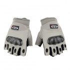 OUMILY The Second Generation Outdoor Tactical Half-Finger Gloves - Gray + Black (Size XL / Pair)