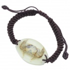 Crab Pattern Acrylic Insect Bracelet - Coffee + Beige