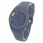 ICE 10ATM Fashionable Rubber Band Women's Quartz Wrist Watch - Grey (1 x LR626)