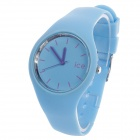 ICE 10ATM Fashionable Rubber Band Women's Quartz Wrist Watch - Blue (1 x LR626)