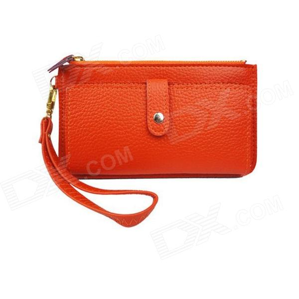 K-1126 Fashionable Women's PU Leather Hand Bags Wallet - Orange