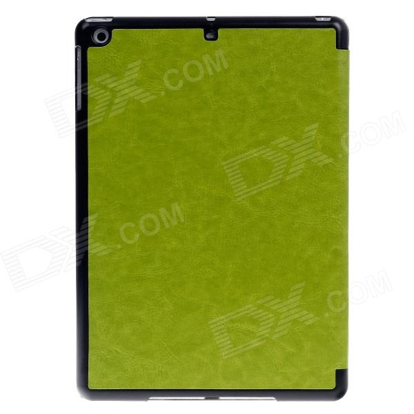 Stylish Ultra Thin Protective PU Leather Case Cover Stand w/ Auto Sleep for Ipad AIR - Green flip left and right stand pu leather case cover for blu vivo air
