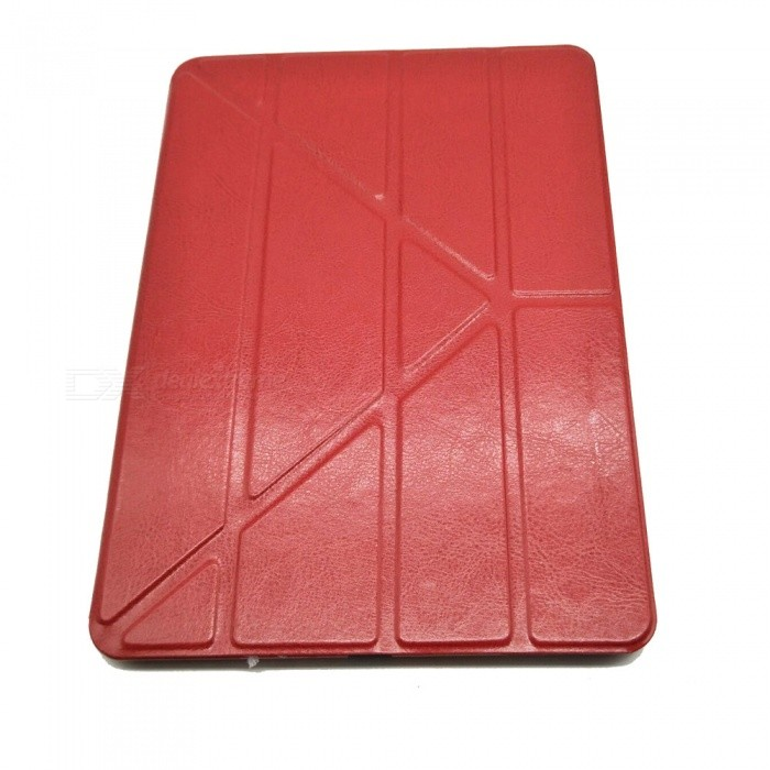 Stylish Ultra Thin Protective PU Leather Case Cover Stand w/ Auto Sleep for Ipad AIR - Red flip left and right stand pu leather case cover for blu vivo air