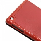 Stylish Ultra Thin Protective PU Leather Case Cover Stand w/ Auto Sleep for Ipad AIR - Red