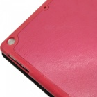 Stylish Ultra Thin Protective PU Leather Case Cover Stand w/ Auto Sleep for Ipad AIR - Deep Pink
