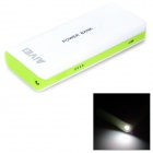 "AIVEI 1-2011 Portable External ""12000mAh"" Power Bank for Cell Phone / Tablet - White + Light Green"