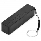 Portable 2200mAh Power Battery Charger + USB Flashlight for Iphone 5S / Ipod / Samsung / HTC - Black