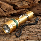 Cree XP-E R3 120lm 3-Mode White Zooming Crown Head Flashlight - Golden (1 x 18650)
