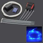 TH-2013 Decorative Flexible Blue LED Light Strip for Bicycle - White + Black