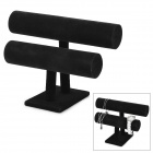 Double Layer Bracelet Accessories Display Stand - Black
