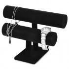 Double Layer Accessori Braccialetto Display Stand - Nero