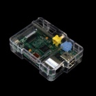Raspberry Pi Model Credit-Card Sized USB 2.0 LAN Plays HD Video Computer + Acrylic Case - Green