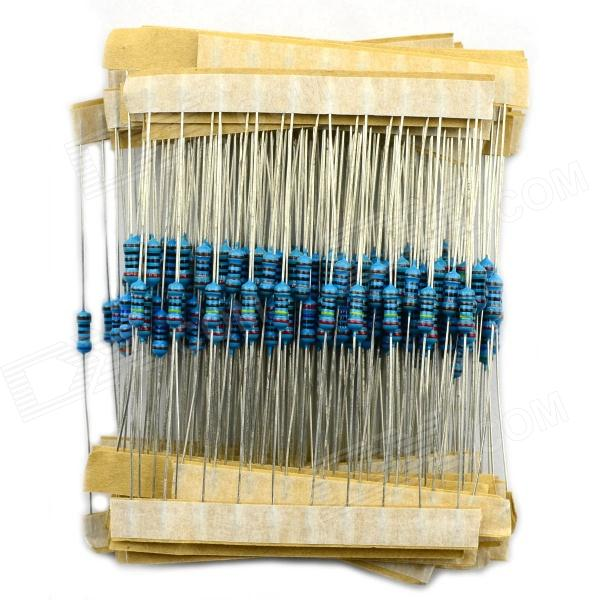 Jtron 1/4W Colored Ring Resistor Pack 100 ohm-2K / 27 kinds/10 PCS - Blue + Silver (270 PCS)