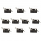 Jtron Tact Switch Blade / Auto Reset - Black + Transparent (10 PCS)