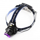 S100 CREE XM-L U2 700lm 3-Mode White Headlight - Black + Purple (2 x 18650)