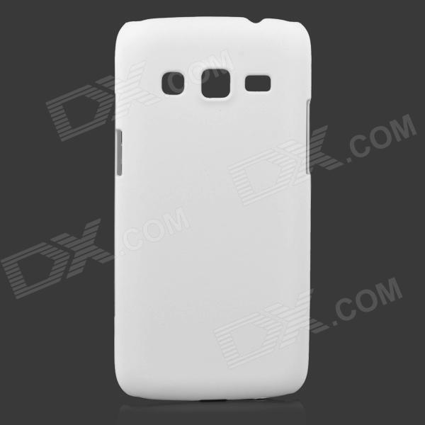 Simple Protective Frosted ABS Back Case for Samsung G3815 - White