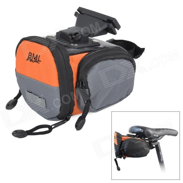 Convenient Seat Poast Tool Bag for Bicycle - Black + Orange