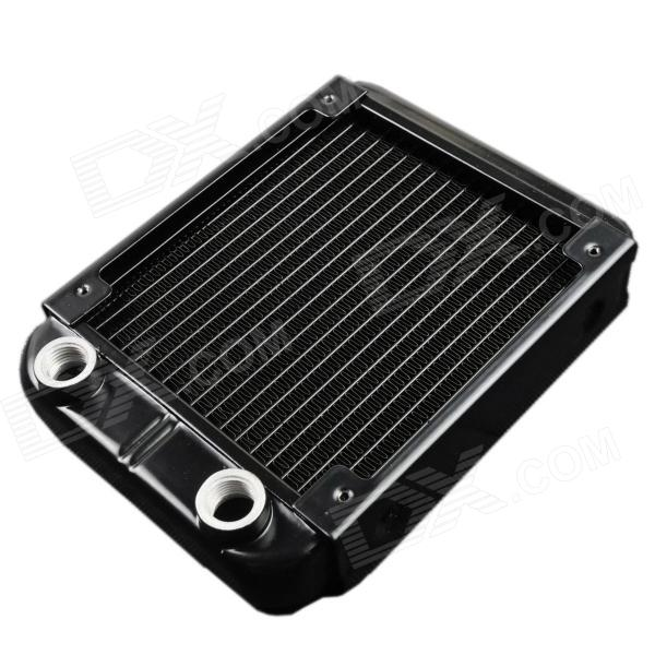 WT-007 12cm Aluminum Radiator / 1/4G Thread Computer Cooler - Black (150 x 120 x 33mm) arte lamp moris a8888lm 8gy