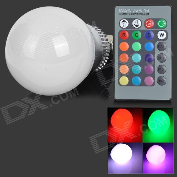 FengYang 005 E27 9W 350lm RGB LED 16-Color Changing Bulb w/ Remote Controller (90~265V) furniture exhibition bar stool wine red blue color chair retail wholesale free shipping living room hotel ktv chair