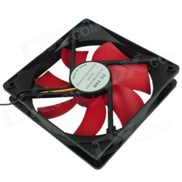 WT-002 JPOWER 12cm Computer Machine Box Cooling Fan - Red + Black материнская плата gigabyte ga h61m s2pv rev 2 2