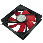 WT-002 JPOWER 12cm Computer Machine Box Cooling Fan - Red + Black
